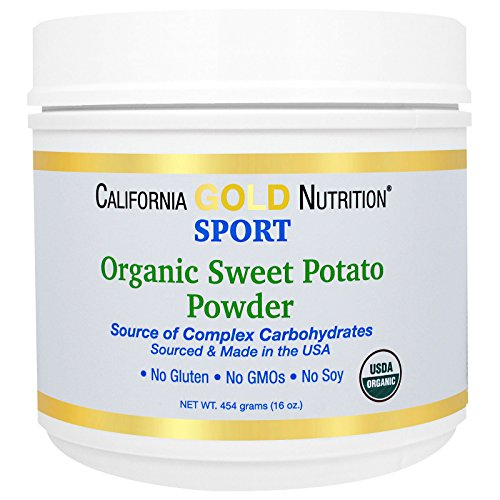 California Gold Nutrition, Organic Sweet Potato Powder, Complex Carbs, Gluten Free, 16 oz (454 g)