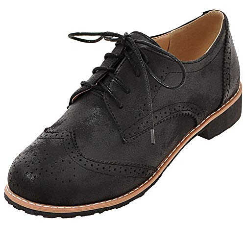 Wingtip up Black Cicime Flat Oxford Lace Brogues Multicolor matte 11 Oxfords 3cm Womens Black Shoes Perforated Oxfords CtISq