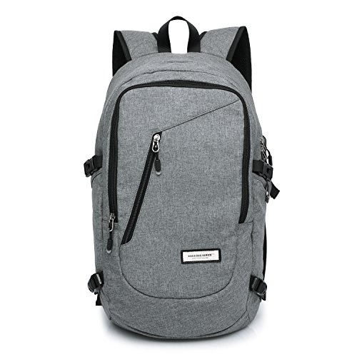 dc8310b24bee best KAKA Classic Travel Backpack Laptop Backpack for 15 inch Laptop Gray