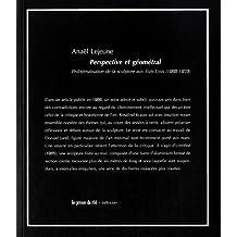 Perspective et géométral : Problématisation de la sculpture aux Etats-Unis (1966-1973)