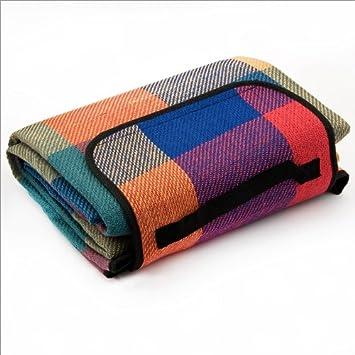Manta de picnic colorida a cuadros 175x135cm