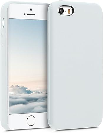 Kwmobile Hülle Kompatibel Mit Apple Iphone Se 1 Gen 2016 5 5s Handyhülle Gummiert Handy Case In Weiß Elektronik