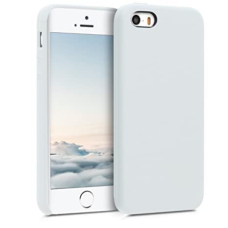 kwmobile Funda para Apple iPhone SE / 5 / 5S - Carcasa de [TPU] para teléfono móvil - Cover [Trasero] en [Blanco]