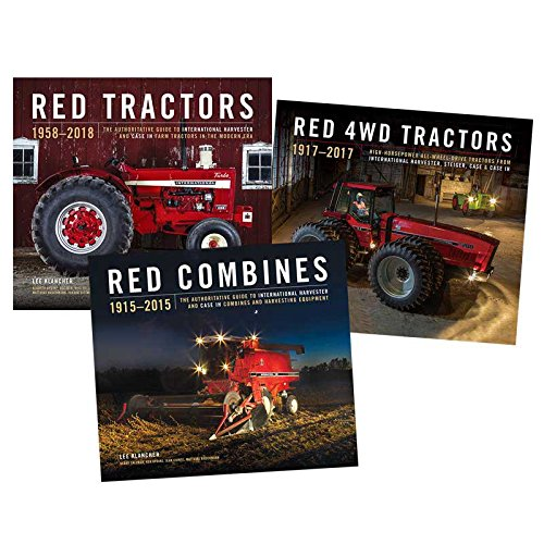 Outback Toys Red Tractors, Red Combines and Red 4WD Tractors Book Combo Set ()