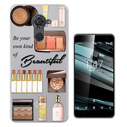 C0778 - Be Your Own Kind Of Beautiful Make Up Palette Lipstick Perfume Blush Design Vodafone Smart Platinum 7 (5.5