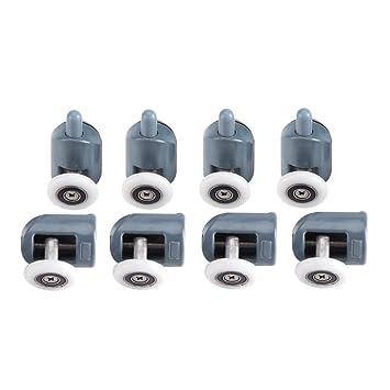 amazon com 8 x twin bottom top shower door rollers pulleys wheels