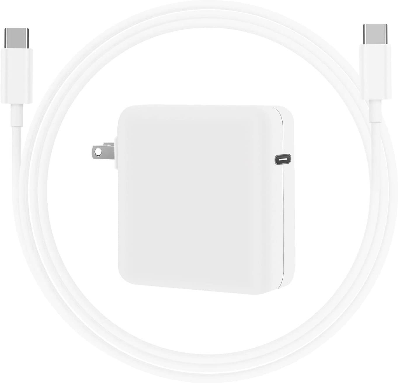 Replacement Mac Book Pro Charger, 61W USB C Charger Power Adapter for MacBook Air 13/12 inch 2020, 2019, 2018, iPad Pro 12.9 11