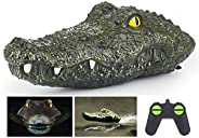 2.4G Remote Control Electric Racing Boat - RC Simulation Swimming Crocodile Head Ship Spoof Toy - Floating Fak