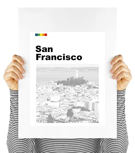 San Francisco, California, Bay Area, travel poster, wall decor, litho, UNFRAMED (San Francisco Lithograph)