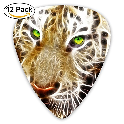 - 12-pack Fashion Classic Electric Guitar Picks Plectrums Tiger Light Design Instrument Standard Bass Guitarist
