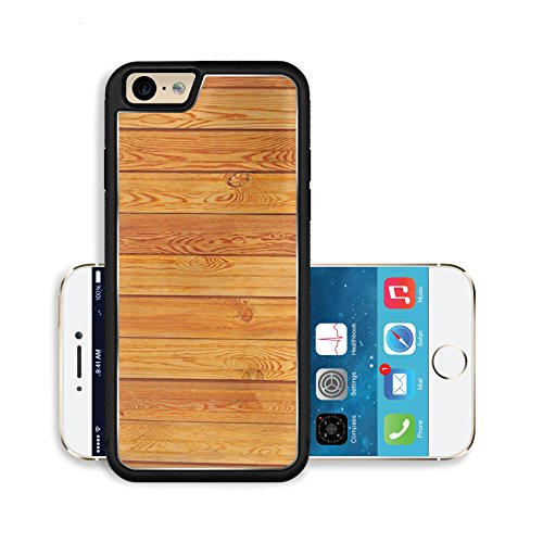 Liili Premium Apple iPhone 6 iPhone 6S Aluminum Backplate Bumper Snap Case fresh fir planks with knots textured background Photo 4338562