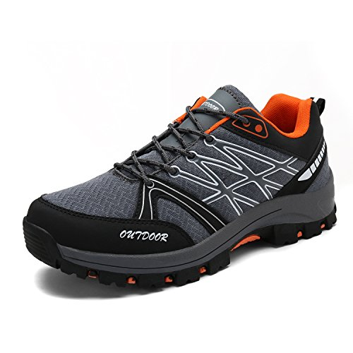 Men's Hiking Boots Trekking Shoes Slip on Outdoor Sports Camping Climbing Sneaker Double-Sided Plush Vamp 9-black Pt4INSF0