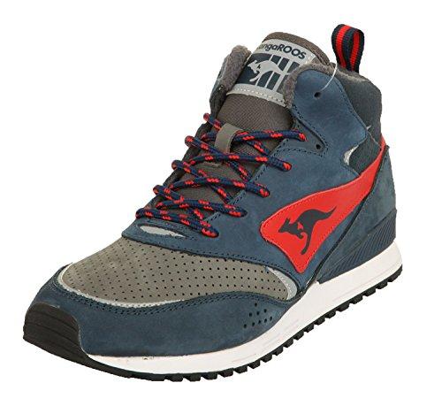 avy/Frame Red Frenzy Roos 003 Dark Navy/Frame Red 471560-461, Size Herren Schuhe:40 (Kangaroos Leather Sneakers)