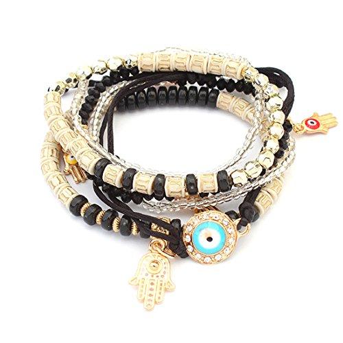RagBear Evil Eye Bracelet Meaning Turkey Charm Wholesale Gold Diamond India Black (Charm Turtle Italian Gold)