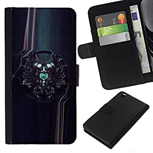 Planetar® Colorful Pattern Flip Wallet Leather Holster Protective Skin Case Cover For HTC DESIRE 816 ( Sci Fi Crest )