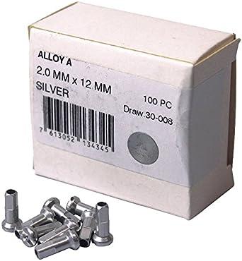 Silver 2.0 x 16mm DT Swiss Standard Brass Nipples Box of 100