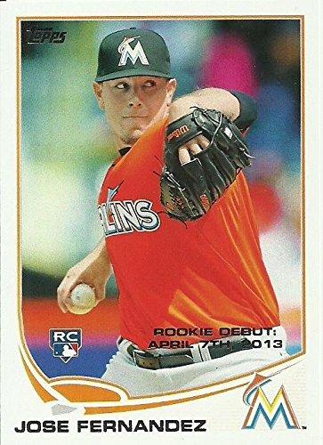 Jose Fernandez Baseball Card Miami Marlins 2013 Topps Rookie Debut