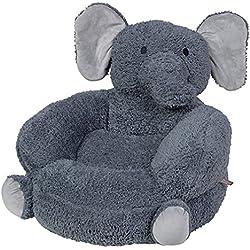 Trend Lab Children's Plush Character Chair, Elephant/Gray