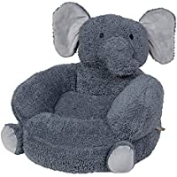 Trend Lab Childrens Plush Character Chair, Elephant/Gray