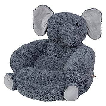Trend Lab Childrenu0027s Plush Character Chair, Elephant/Gray
