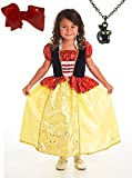 Snow White Princess Dress with Wondercharms Necklace - MEDIUM (3-5)