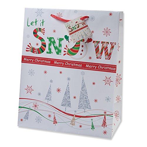 12 Days Of Christmas Gifts For Boyfriend: Gift Boutique Christmas Gift Bags Medium Bulk Assortment