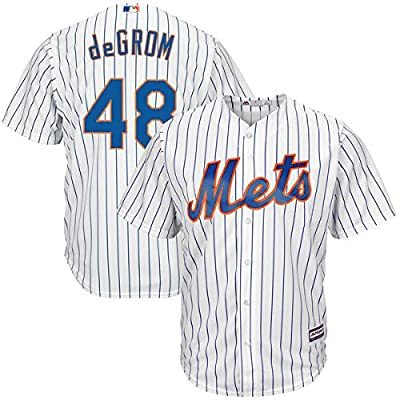 Jacob deGrom New York Mets #48 MLB Men's Big and Tall Cool Base Home Jersey (2XT)
