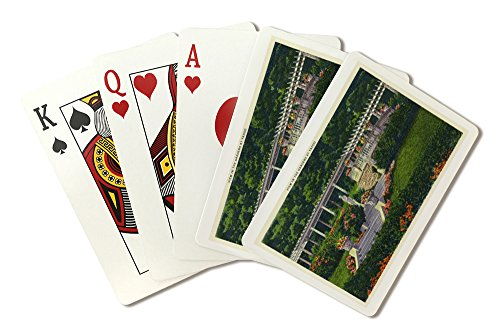 Saratoga Springs, New York - View of the Gardens at Yaddo (Playing Card Deck - 52 Card Poker Size with Jokers) - Yaddo Gardens