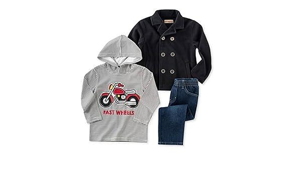 ea68ee190a10 Amazon.com  Kids Headquarters Infant Boys 3 Piece Motorcyle Outfit ...