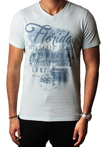 Herren Grafik Sortiert Foto drucken T-shirts Designer Baumwolle oben South Shore S-XXL,Pastellblau,XL