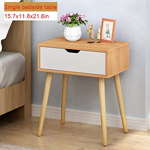 Assemble Storage Bedside Table,Eoeth Simple Modern Bed Cabinet Storage Small Cabinet Simple Locker Dormitory Bedroom Nightstand Desk Storage with Drawers Funiture (Shipped by US) Free Post (B)