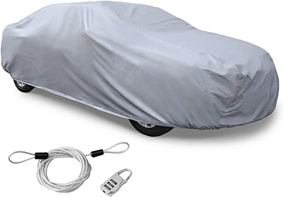 uxcell 3XXL+ PEVA Car Cover Outdoor Waterproof Breathable Snow Heat Resistant 570 x 190 x 160cm