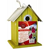 ARSUK Deluxe 3 Pack Wooden Bird Nesting Box House With Tin Roof