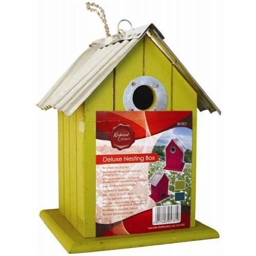 ARSUK Deluxe 3 Pack Wooden Bird Nesting Box House With Tin Roof by ARSUK