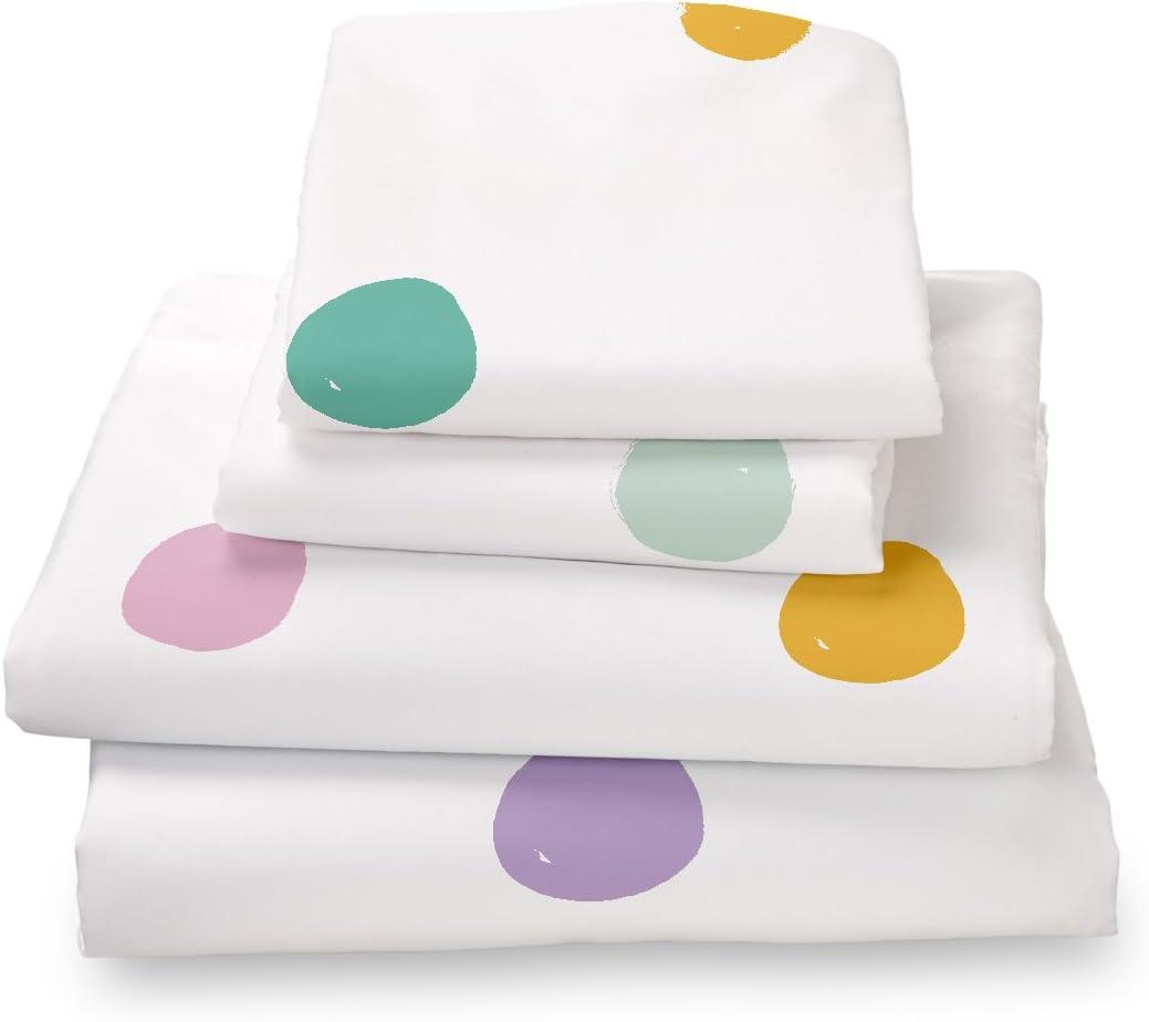 Where the Polka Dots Roam Colorful Bed Sheet
