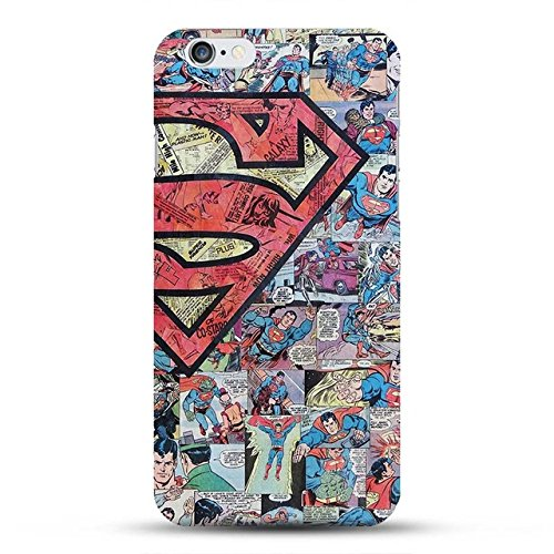 8320a8944fabe Keklle Red Blue Superman Hard Case for iPhone 7 Plus / 8 Plus, Character  Superheroes Print iPhone Cover Comic Super Hero Themed, Multi Colors, ...