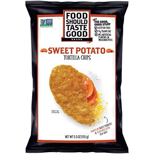 Food Should Taste Good BG13043 Food Should Taste Good Sweet Potato Tortilla chip - 12x5.5OZ by Food Should Taste Good