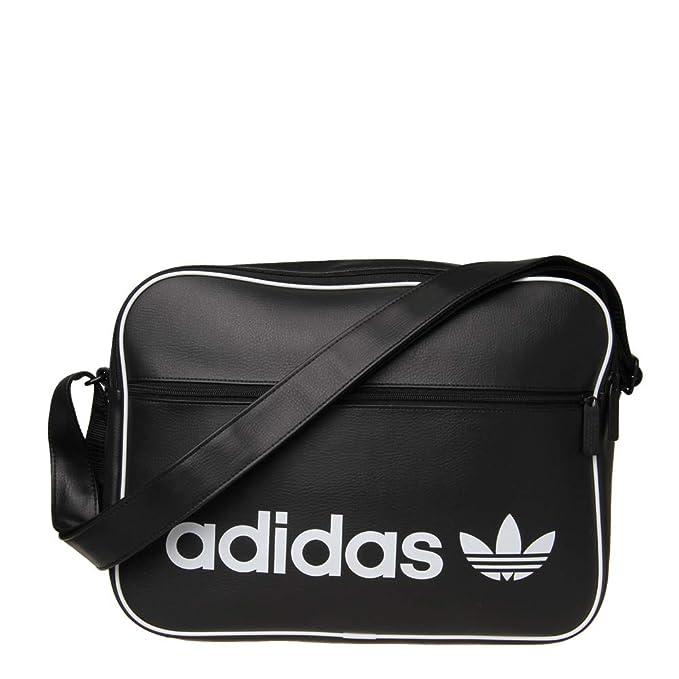 b3b9cbb8d5d adidas Unisex's Airliner Vintage Messenger Bag, Black, 12 x 29 x 39 cm:  Amazon.co.uk: Shoes & Bags