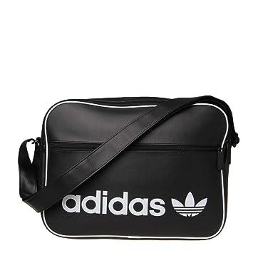 77a62ec81f adidas Unisex's Airliner Vintage Messenger Bag, Black, 12 x 29 x 39 ...