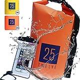 25Twelve Waterproof Dry Bags - Dry Bag for Kayak Accessories Camera Jet Ski Fishing Sailing Boat Camping with bonus waterproof phone case