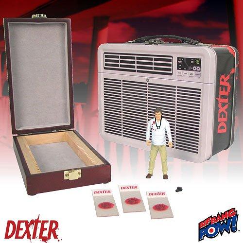 Dexter Estaño asas con el Slide Box Sangre y figura de acción dentro!