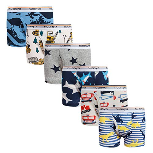 Boys Boxer Briefs Shorts Cotton Dinosaur Shark Baby Toddler Underwear for Kids Boy 6 Pack 6/7yrs Mixed Colour