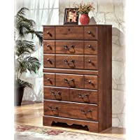 Timberline Five Chest Of Drawers In Warm Brown