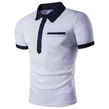cffa02cb4a Amazon.com: FUNIC Men's T-Shirt, Men Slim Short Sleeve Casual Polo ...