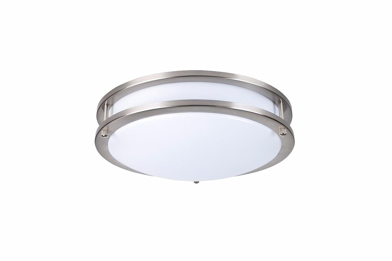 elitco照明cf3206 led-household-light-bulbsダブルリング天井、フラッシュ、5000 K、120 ° cri80、UL、20 W、80 W相当、50000hrs、lm14000、調光機能付き、5年保証、入力電圧120 V B0779DKJRG
