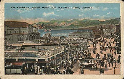 The Promenade Between Ocean Park and Santa Monica Santa Monica, California Original Vintage - Santa Promenade The Monica