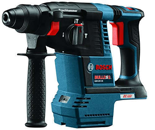 Bosch GBH18V-26 Bare-Tool 18V Lithium-Ion Brushless 1″ SDS-plus Bulldog Rotary Hammer