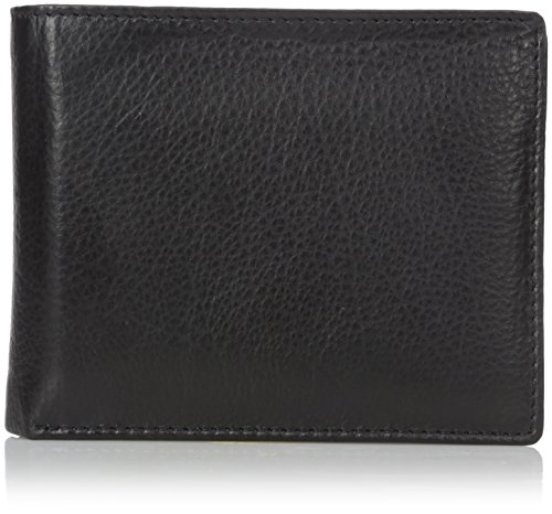 Buxton Men's Houston RFID Blocking Credit Card Billfold, Black, One Size ()