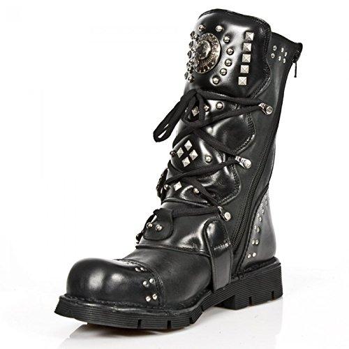 New Rock Boots M.1474-s1 Gotico Hardrock Punk Unisex Stiefel Schwarz