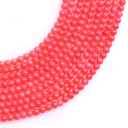 Coral Seed Beads for Jewelry Making Semi Precious Gemstone 2mm Round Pink Strand 15